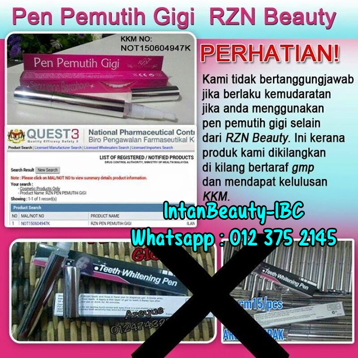 Pen Pemutih Gigi Tiada Lagi Alasan Gigi Berkarat Intan Beauty