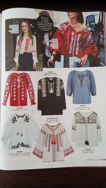 modele de ie prezentate in revista Instyle Germanie iunie 2016 - trend etno boem