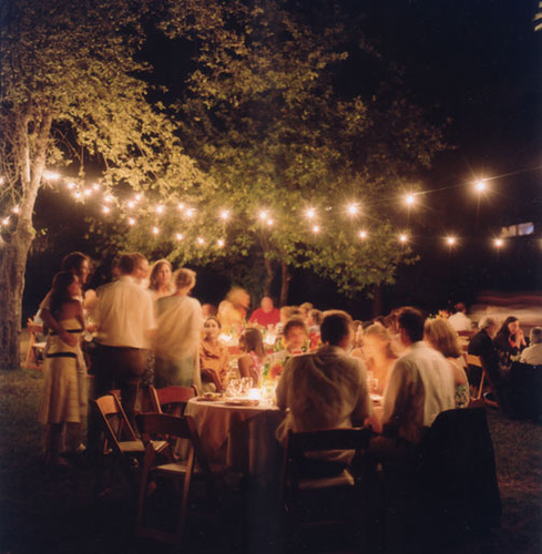 Evening Wedding Reception Decoration Ideas: Lovely Weddings: Fall Outdoor Wedding
