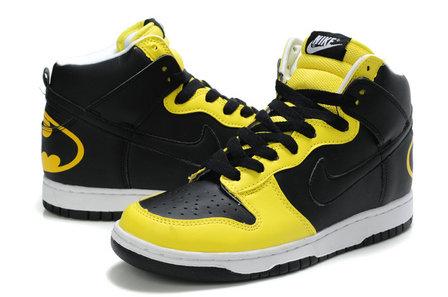 Nike Dunks Custom Design Sneakers : Nike SB High Tops Batman