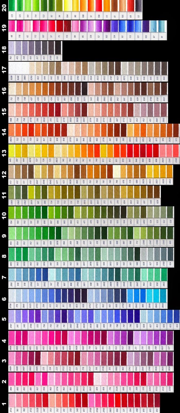 Grande raccolta di schemi e grafici per punto croce free for Tabella per mescolare i colori