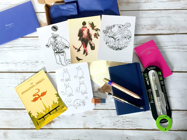 "spotlight stationery ""In my pocket"" themed box"