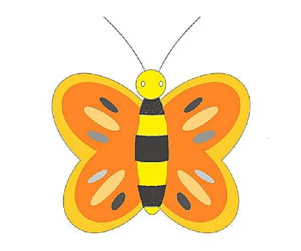 cara+menggambar+kupu+kupu
