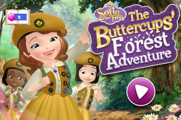 Play Sofia the First The Buttercups Forest Adventure game where you can help Sofia to collect 12 Star Stones and to get befriended animals