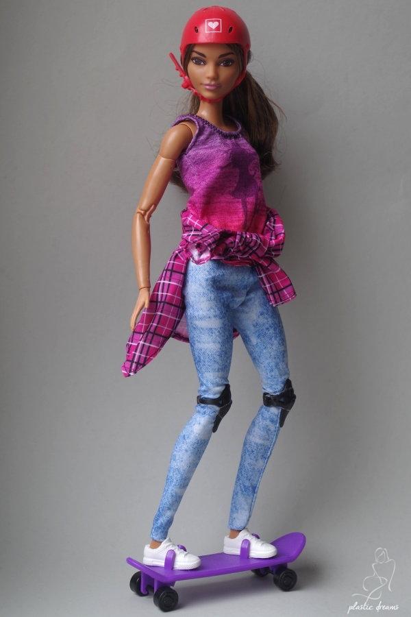 barbie skateboarder