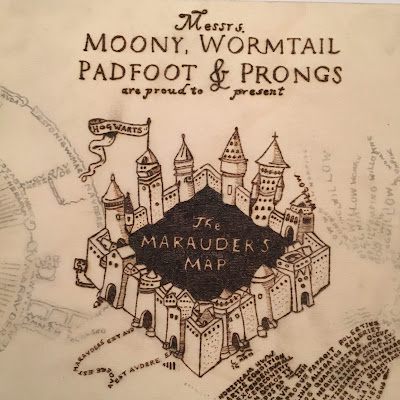 Harry Potter Marauder's Map Pyrography Box