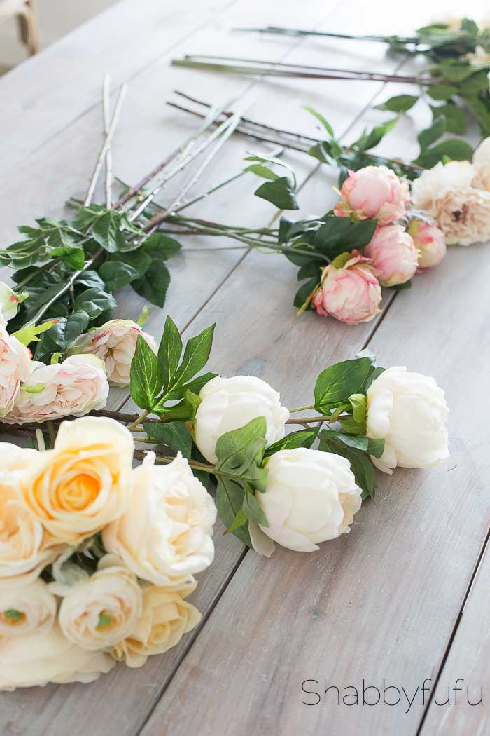 faux flowers wedding ideas