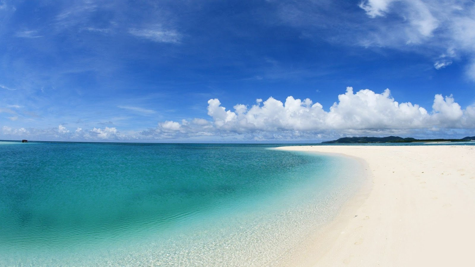 Blue water white sand beach hd wallpapers 1080p ultra hd - Beach hd wallpapers 1080p ...