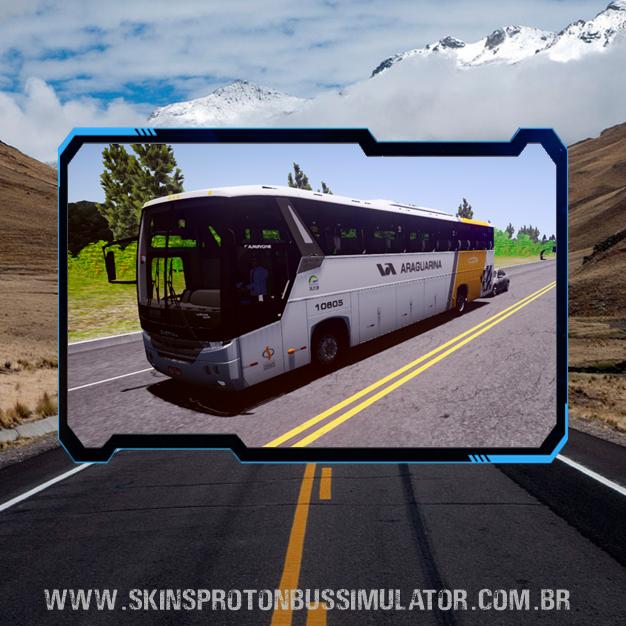Skin Proton Bus Simulator Road - Comil Campione Vision 3.65 MB O-500RS Viação Araguarina