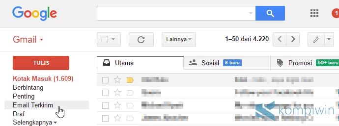 pesan terkirim gmail