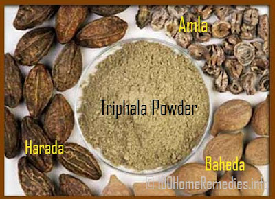 Triphla  gives relief in constipation.