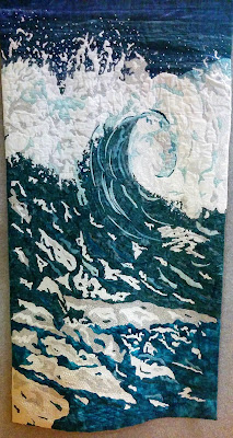 Creates Sew Slow: Creative Construction 2017 - Breaking Waves by Dianne Southey