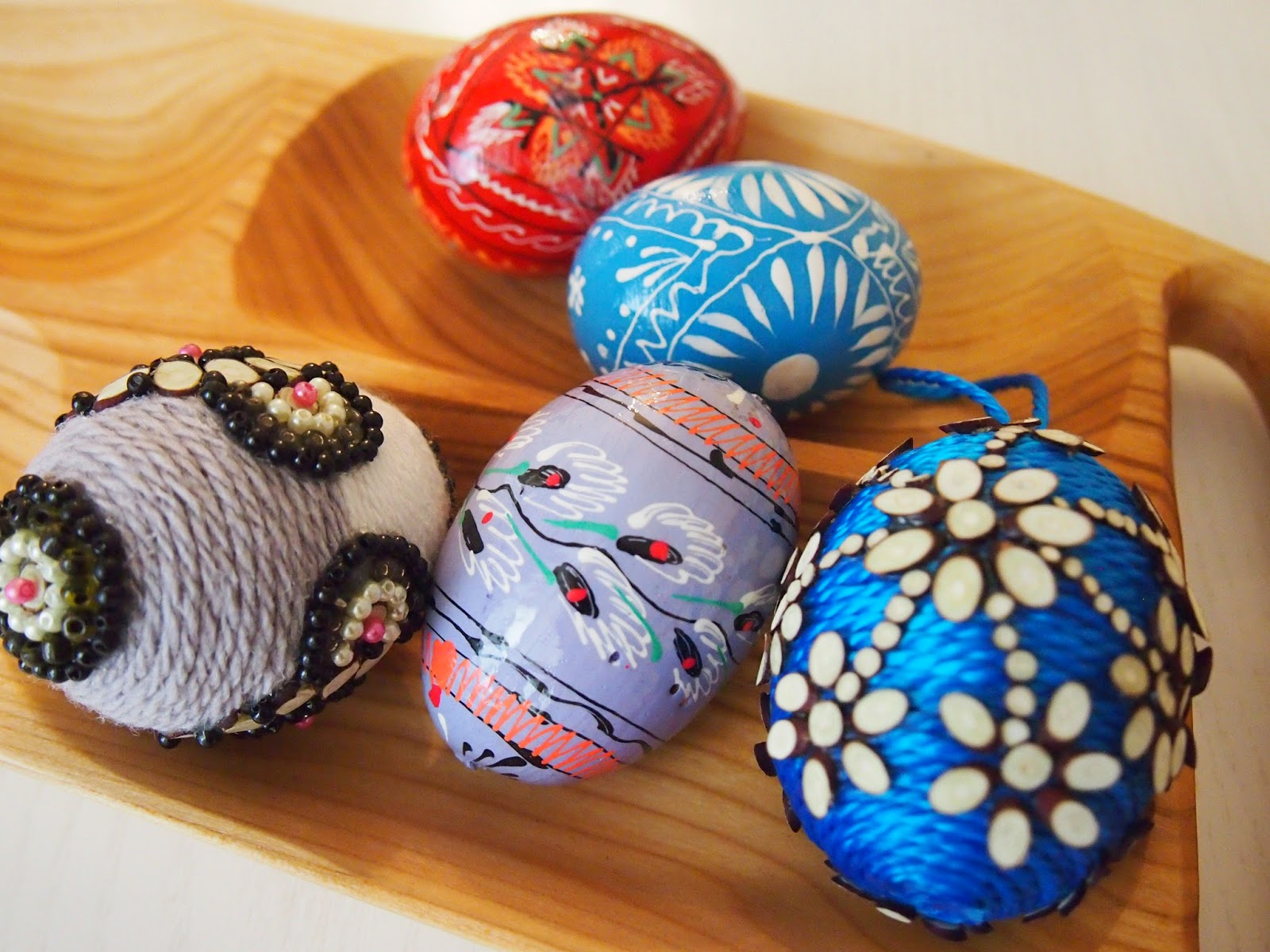 Lithuanian painted eggs