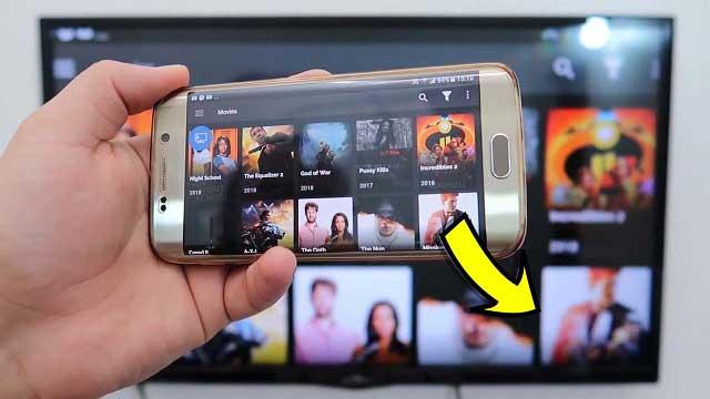 طريقة عرض شاشة أي هاتف على أي تلفاز بدون كابلات عبر الرسيفر ?!