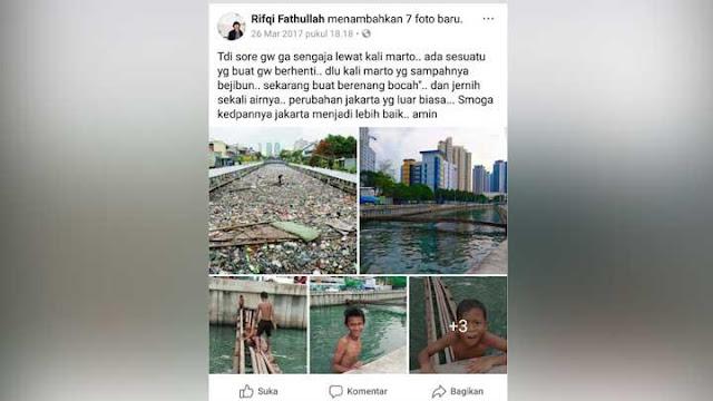 Pengakuan Lurah Sunter Jaya, Kali Item Dulu Jauh Banget Dengan di Era Anies, Dia Ungkap Ternyata Ini Yang Ahok Lakukan....