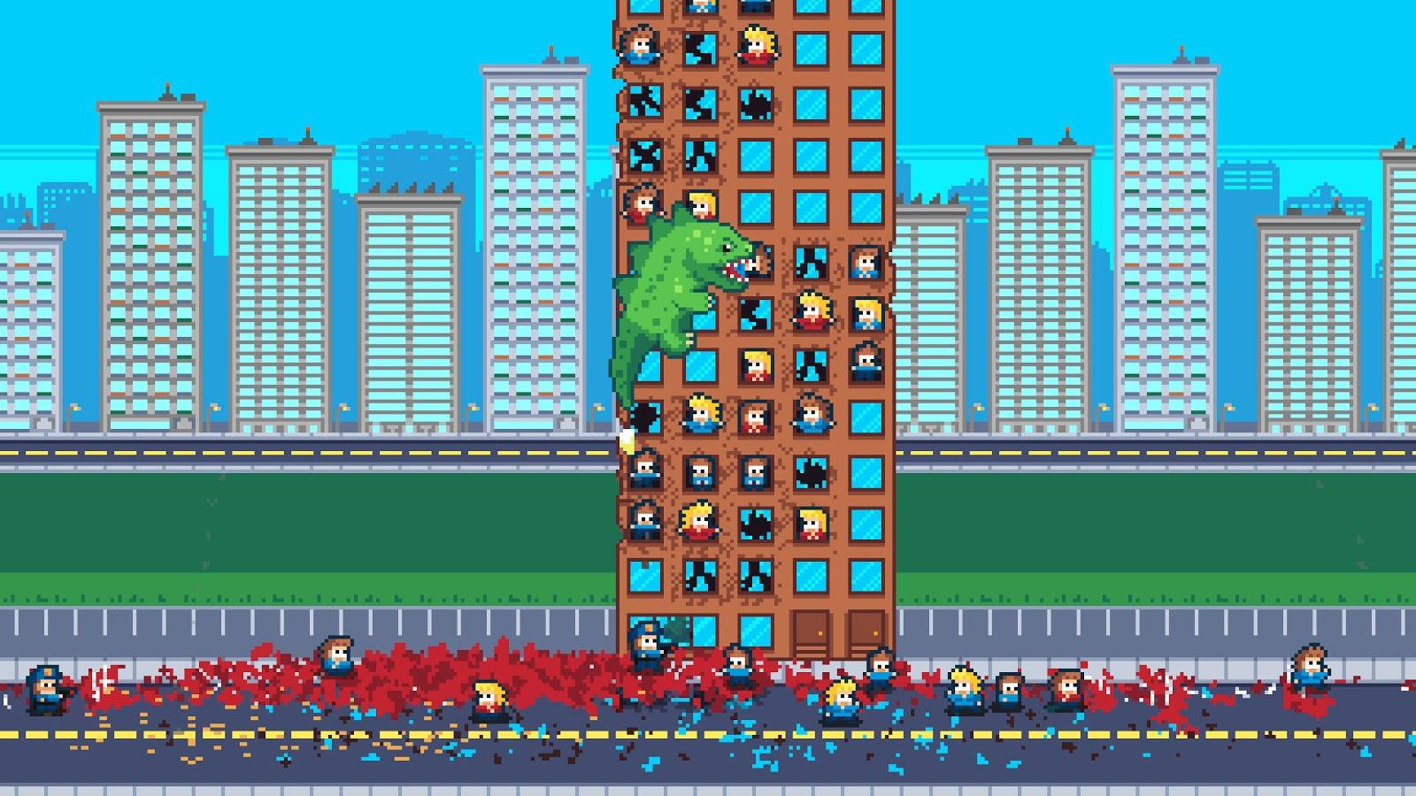 Indie Retro News: Terror of Hemasaurus - Rampage inspired