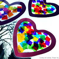 Heart Suncatcher Craft. Valentines Crafts for Preschool.