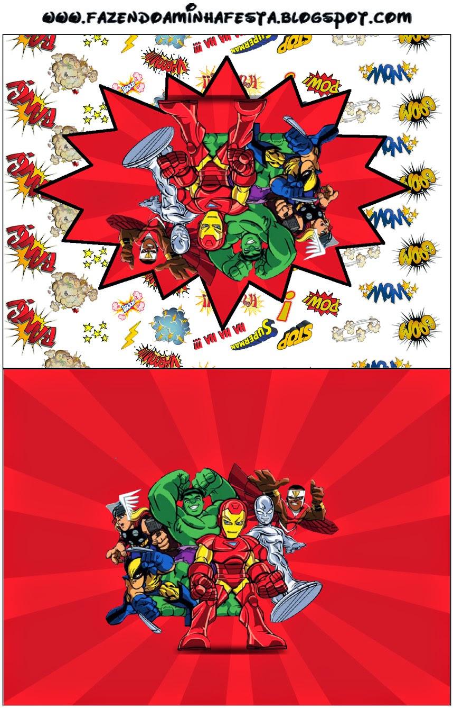 Escuadrón de Héroes Marvel: Etiquetas para Candy Bar para Imprimir ...