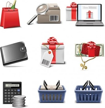 Shopping icon vector by zcool.com.cn