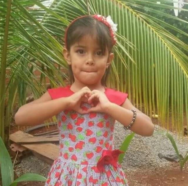 Menina de 4 anos é morta após ter a residência dos avós invadida por bandidos