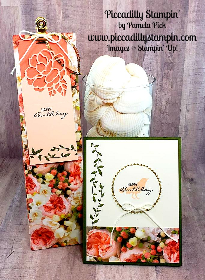 Piccadilly Stampin How To Make A Tall Gift Bag Tag And Card From