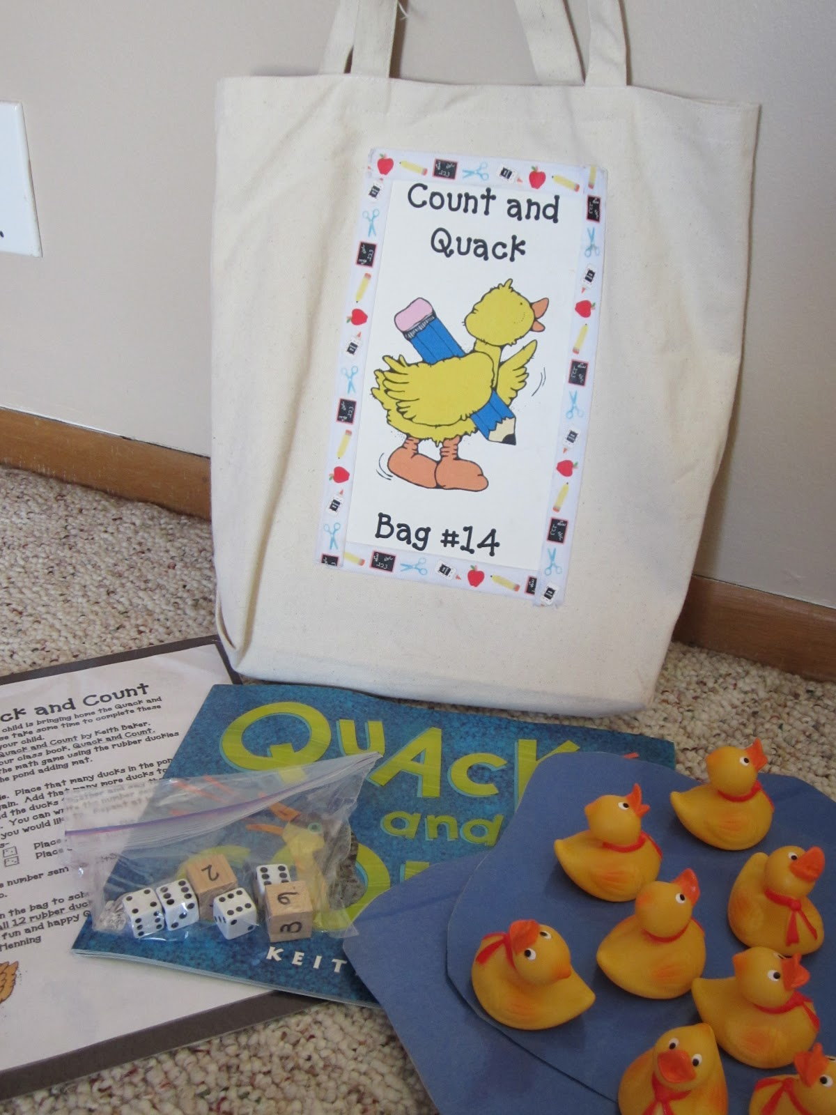 Kindergarten At Heart Take Home Bags