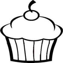 querridino desenhos para colorir cupcakes