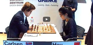 BIG GAME OF DAY!!! Magnus Carlsen Vs Hou Yifan | GRENKE Chess Classic 2017 Round 3