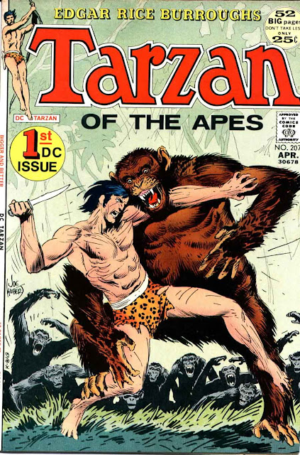 Tarzan v1 #207 dc comic book cover art by Joe Kubert