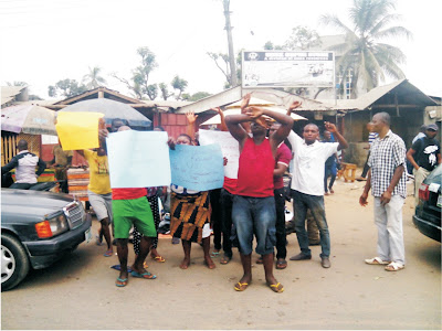 Protest in Eket over demolition of structures