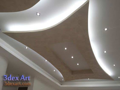Latest false ceiling designs for living room and hall 2019 for Immagini cartongesso salone