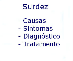 Surdez causas sintomas diagnóstico tratamento prevenção riscos complicações