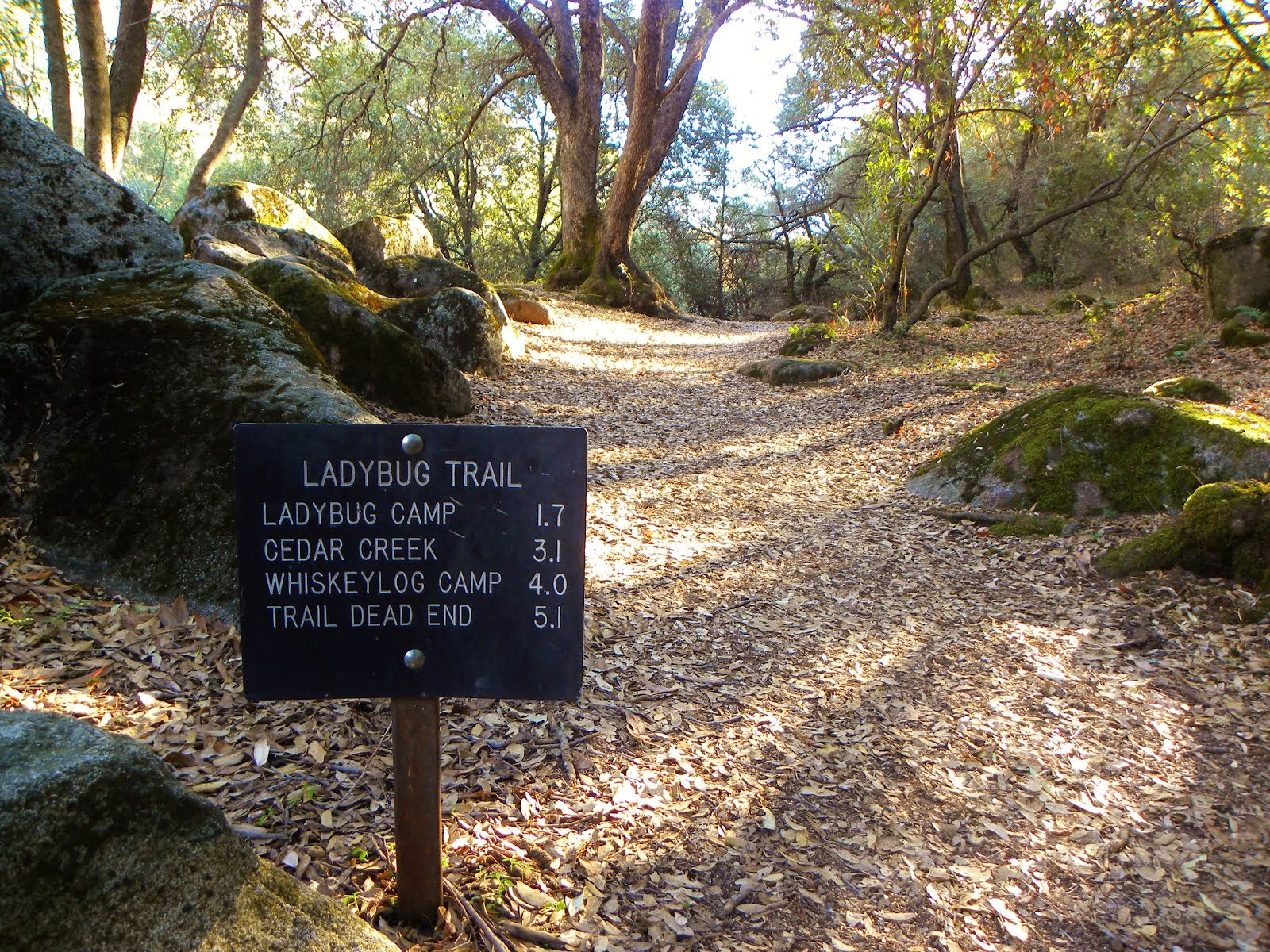 Trail Sign .. South Fork of the Kaweah River