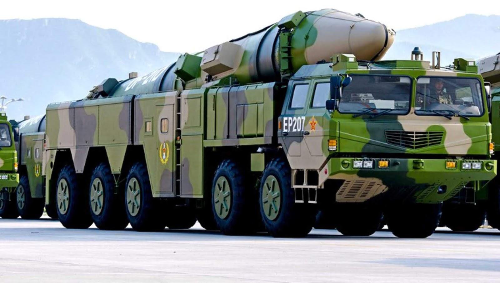 Berapa banyak rudal Cina yang mampu menyerang Amerika?