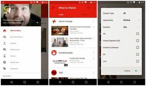 تحميل تطبيق يوتيوب للاندرويد اصدار,6.0.11 بمميزات جديدة 2015