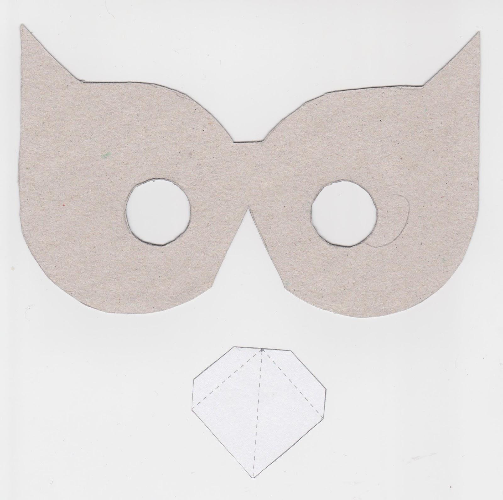 la boite id es de l 39 atelier 3b masque chouette en papier. Black Bedroom Furniture Sets. Home Design Ideas