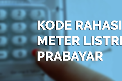 Kode Meteran Listrik Prabayar Token PLN