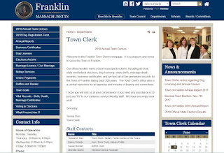 Welcome to the Franklin Town Clerk's webpage