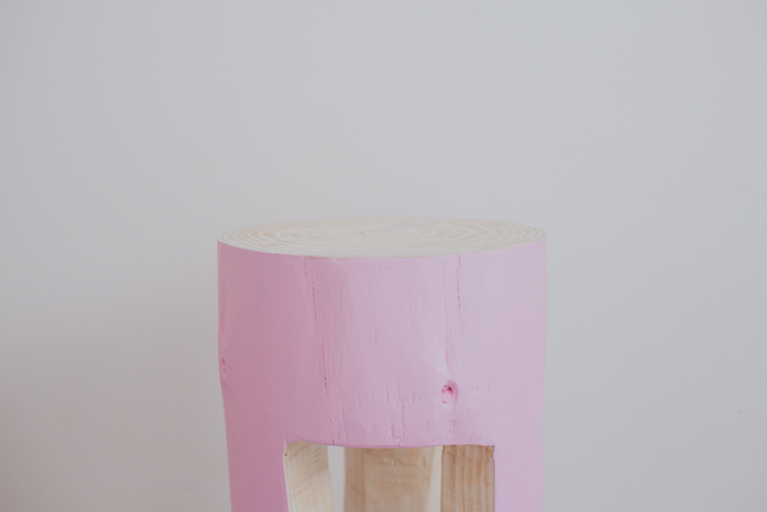 timber stump stool