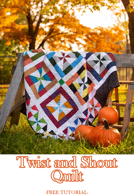Twist and Shout Quilt Free Tutorial designed by Jenny of Missouri Quilt Co