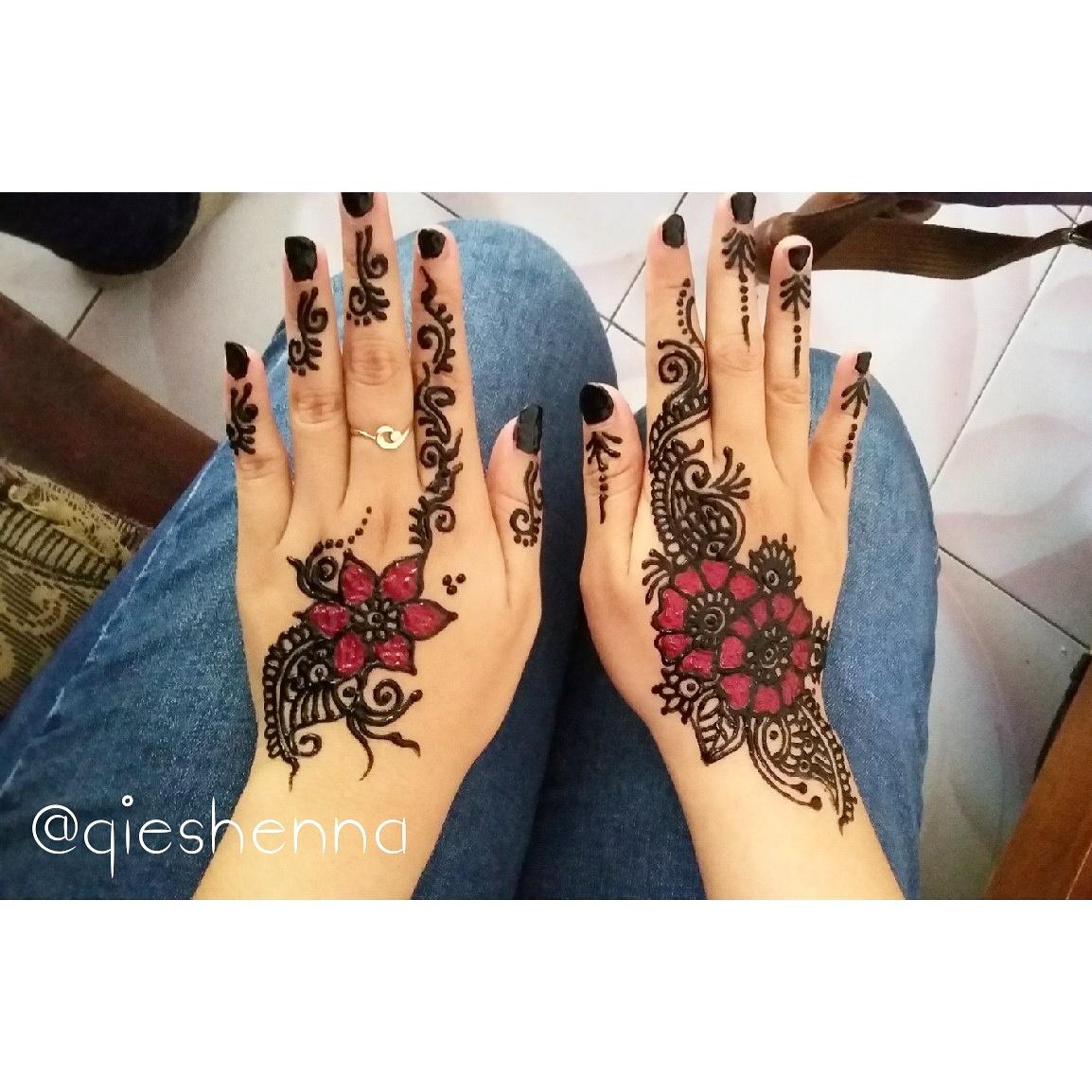 Gambar Henna Warna Merah Balehenna