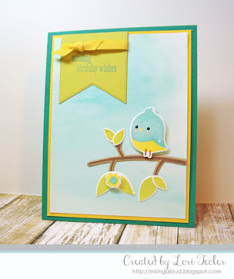Birdie Birthday card-designed by Lori Tecler/Inking Aloud-stamps from WPlus9