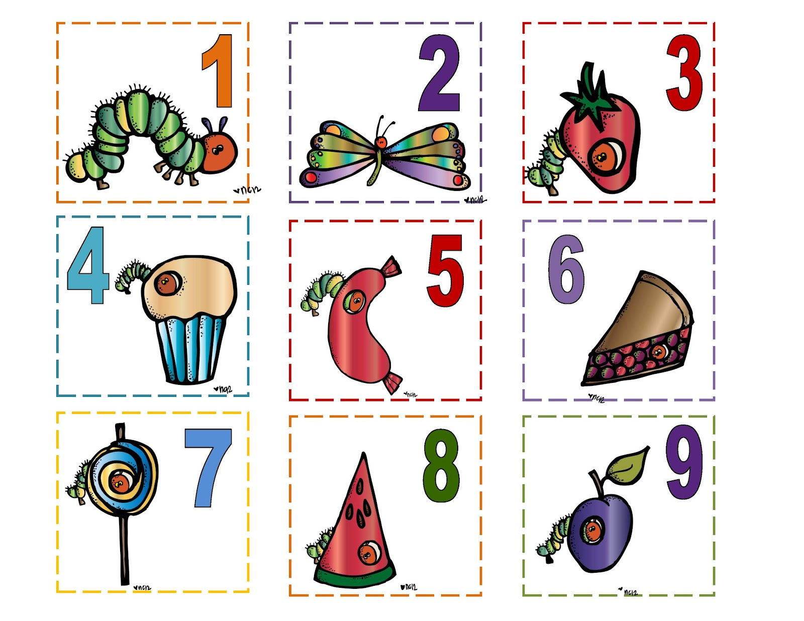 Hungry Caterpillar Calendar Preschool Printables
