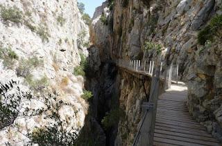 Las famosas pasarelas del Caminito del Rey.