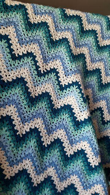 Ergahandmade V Stitch Crochet Ripple Afghan Diagrams Free Pattern
