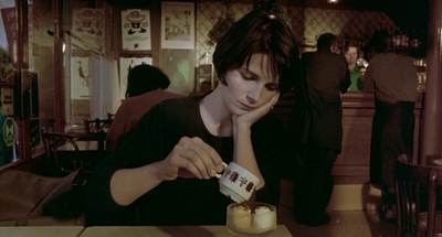 Juliette Binoche as Julie in Thrre Colors: Blue, Directed by Krzysztof Kieslowski