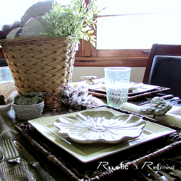 Spring tablescape while discussing marriage vows