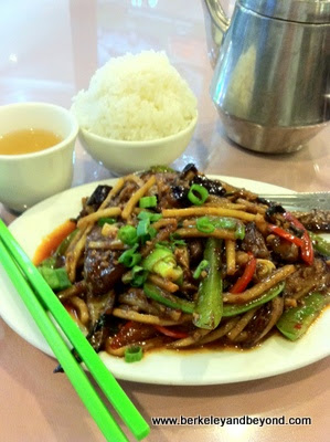 spicy eggplant at 168 Restaurant at Pacific East Mall in Richmond, California