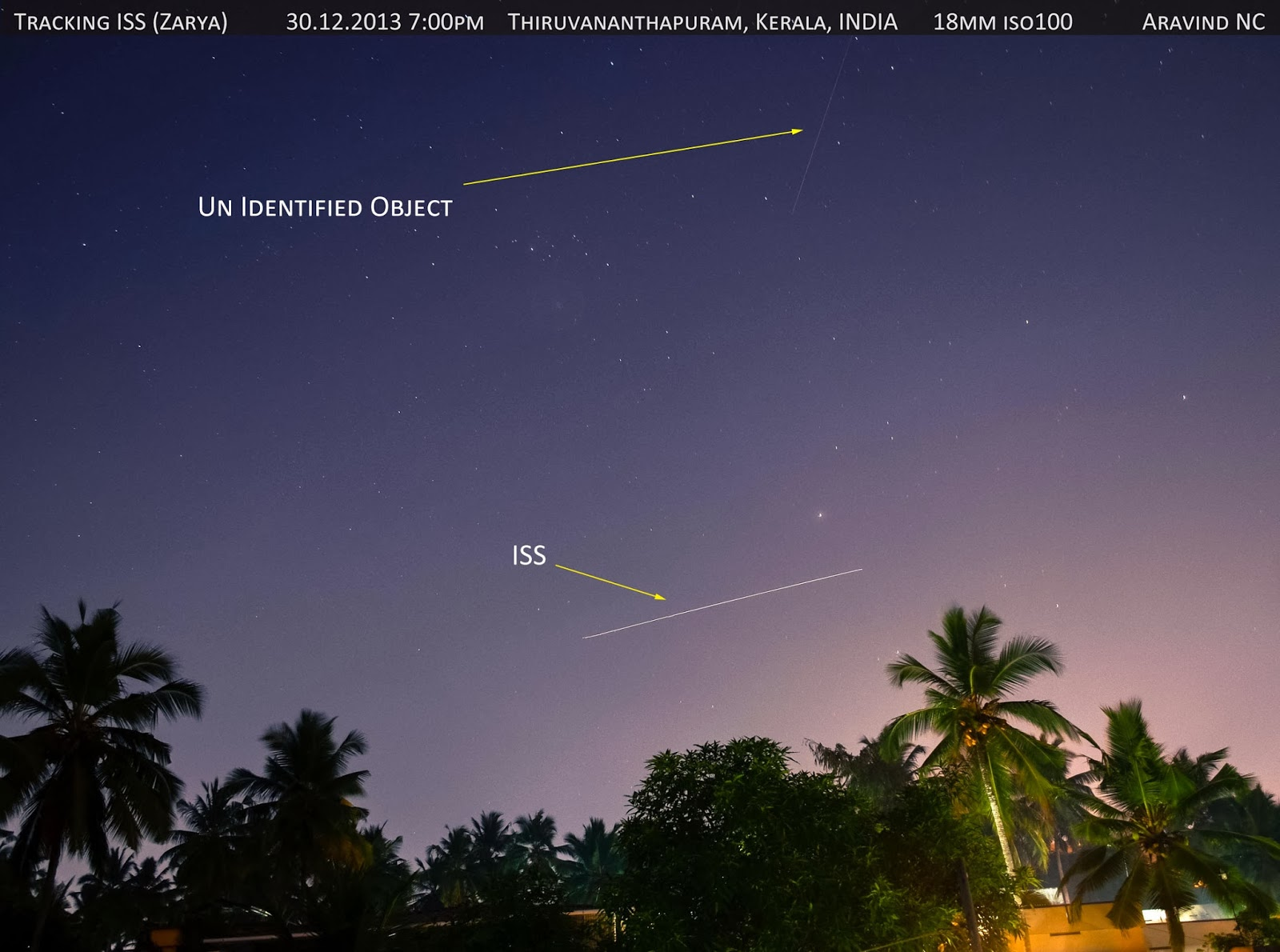 Aravind is Online: Sky tracking International Space ...