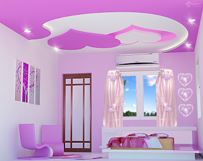 false ceiling pop designs for girls bedroom